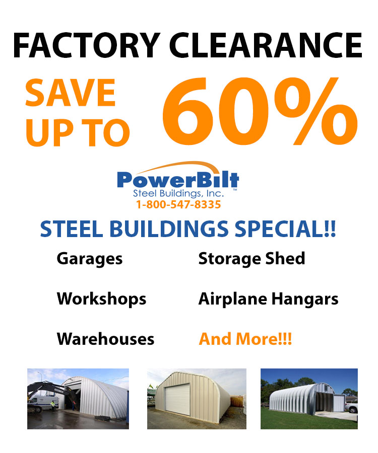 Powerbilt Steel Buildings up to 60% off!