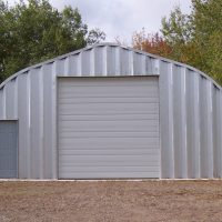 Quonset Hut Garage With Door