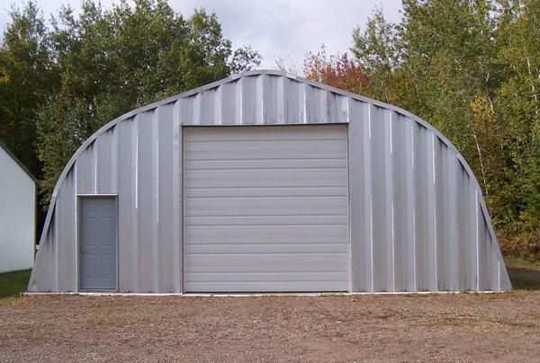 Quonset Hut Garage With Door