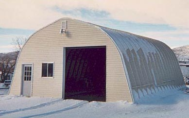 Quonset Hut In Snow