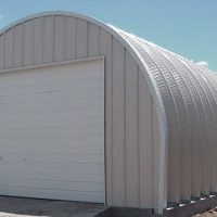 Garage Quonset Hut Beige