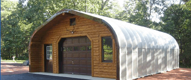 Wood Quonset Hut With Metal Roof