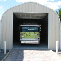 Firetruck Quonset Garage Cover