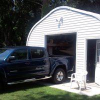 Garage With Door Quonset Hut