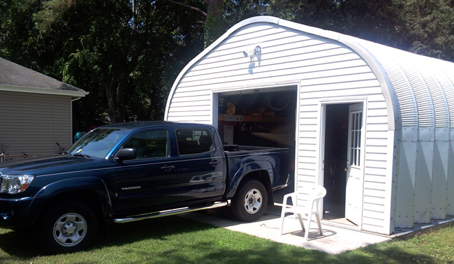 Garage With Door Quonset Hut