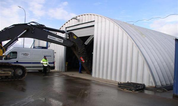 Industrial Quonset Hut Use